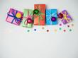 Christmas colorful gift boxes
