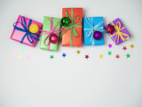 Christmas colorful gift boxes - 175900103