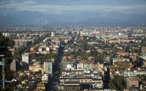 Poster Milan Milano veduta dall'alto