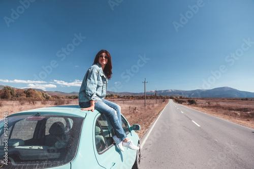 Poster Girl enjoying road trip