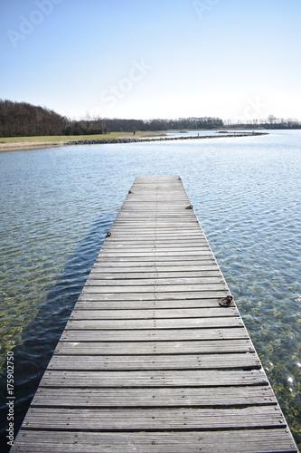 Plexiglas Pier lake