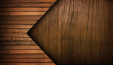 wood plank with arrow design background