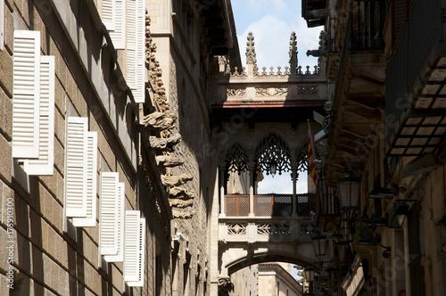 Poster Barcelona Gothic Quarter - Barcelona - Spain