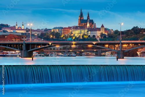 Foto op Plexiglas Praag Prague. Image of Prague, capital city of Czech Republic, during twilight blue hour.
