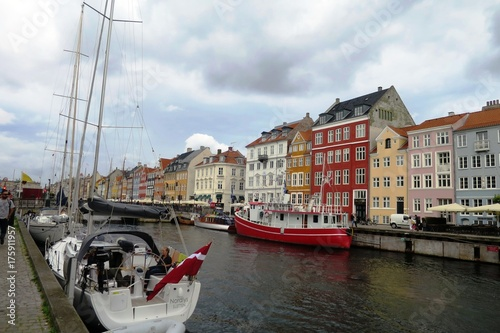 Copenhague Nyhavn Tablou Canvas