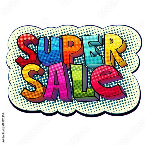 Fotobehang Pop Art super sale sticker