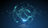Futuristic globalization interface, a sense of science and technology abstract graphics. - 175913338