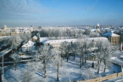 Fotobehang Vestingwerk Winter in Braunschweig