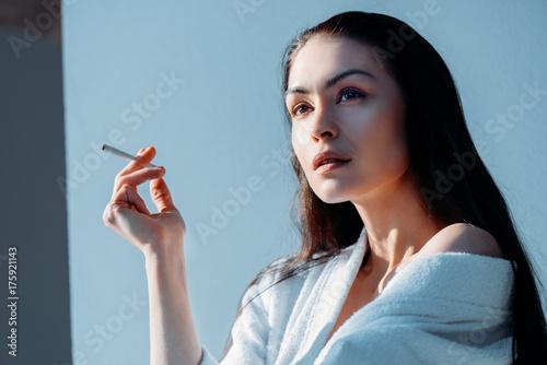 beautiful woman smoking