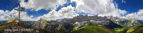 Tuinposter Bleke violet 360° Panorama Mahnkopfgipfel im Karwendel