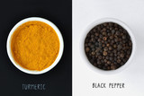 Turmeric and black pepper - 175923935