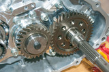 chrome silver transmission gears