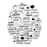 Collection of hand drawn lettering of coffee. - 175929194