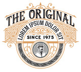 Vintage Logo with Victorian details - 175930391