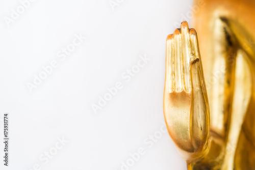 Staande foto Boeddha hand of golden buddha