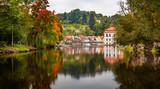 Autumn in Cesky Krumlov, Czech Republic - 175941346