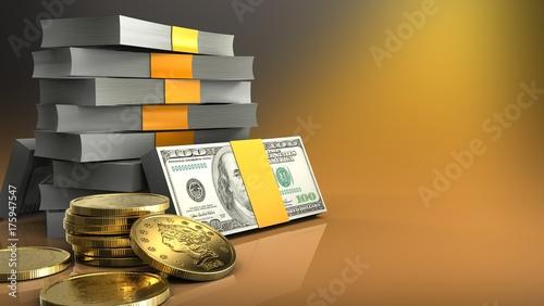 3d golden coins