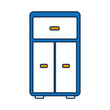 drawers icon over white background vector illustration - 175959387