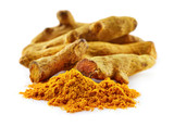 Turmeric root with powder - 175964375