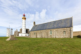 Chapel, lighthouse, semaphore and abbey ruins at Pointe de Saint-Mathieu, Brittany - 175964723