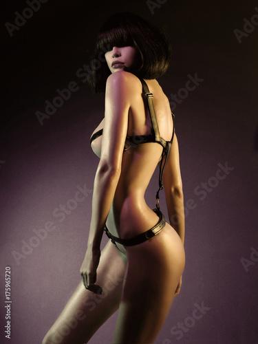 Spoed canvasdoek 2cm dik womenART Beautiful nude body of sensuality elegant lady.