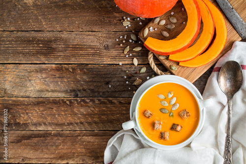 Pumpkin soup puree - 175968302