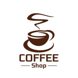 Coffeeshop coffee cup steam vector icon - 175969137