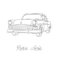 White retro car