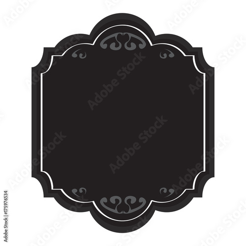 Fotobehang Vintage Poster Isolated empty vintage sale label, Vector illustration