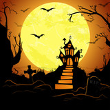 Halloween scary castle background - 175978390