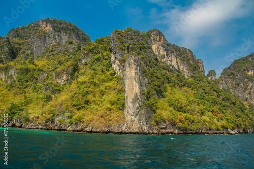 Maya Bay at Phi Phi archipelago in Thailand Poster