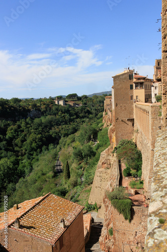 Deurstickers Toscane Pitigliano is a medieval town in Tuscany in Italy.