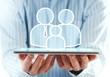 Family insurance on tablet