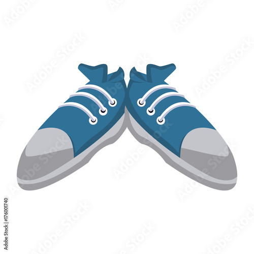 Sport sneakers isolated icon vector illustration graphic design