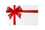 Geschenk rotes Schleifenband - 176004586