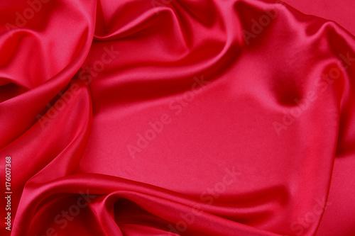 Fridge magnet Red silk fabric
