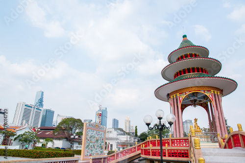 In de dag Bangkok Temple in Tio Chew Chinese Cemetery, Bangkok