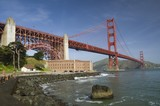 Golden gate bridge and Fort Point, San Francisco, California, USA - 176015503