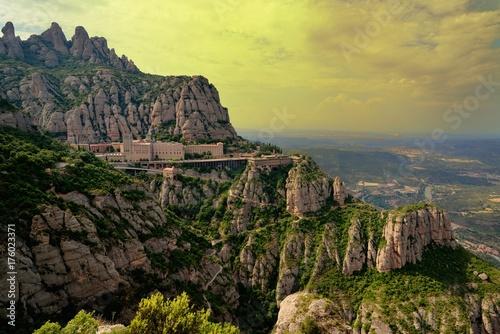 Fotobehang Barcelona Montserrat, Spain.