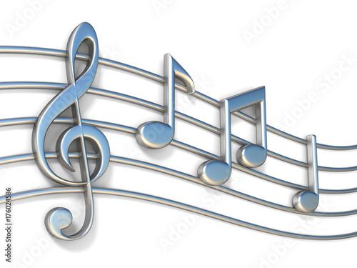notas-musicales-en-lineas-de-personal-3d