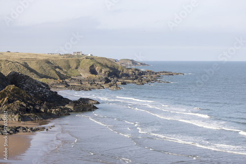 View of Hackley Bay, Aberdeenshire Poster