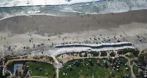 4K Drone shot - California Beach- San diego - City