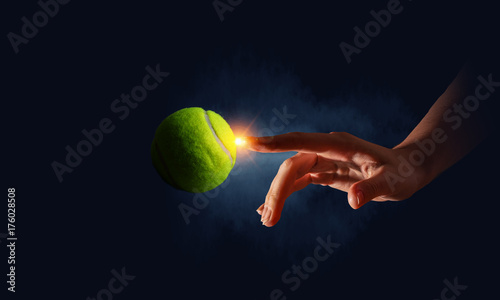 Fotobehang Tennis Creating it perfect . Mixed media