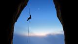 Mountain Climber Silhouette - 176031503