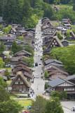 Historical village of Shirakawa-go. Shirakawa-go is one of Japan's UNESCO World Heritage Sites located in Gifu Prefecture, Japan. - 176039749