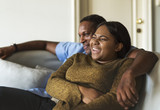 African couple having a great time together - 176041303