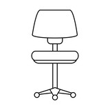 chair with wheels office supplies icon image vector illustration design - 176041585