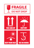 fragile sticker set - 176042315