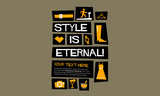 Style is eternal! (Flat Style Vector Illustration Fashion Quote Poster Design) - 176044579
