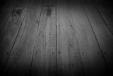 Old Wooden Floors, For Texture And Background, black and white picture.